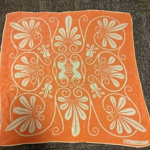 Vintage orange Anne Klein silk scarf